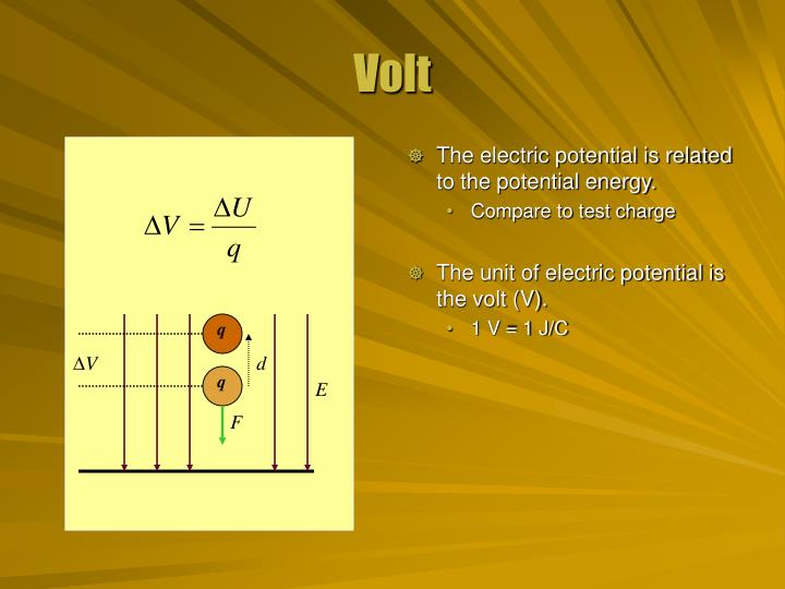 The electric potential is related to the potential energy.