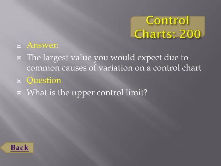 Control Charts: 200