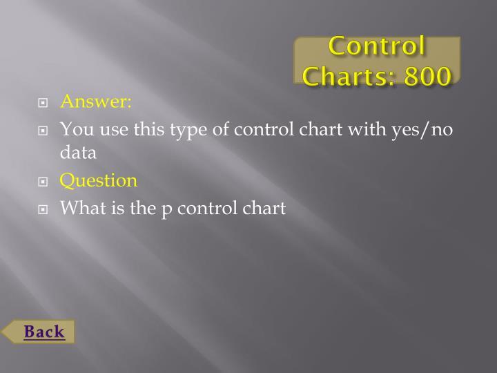 Control Charts: 800