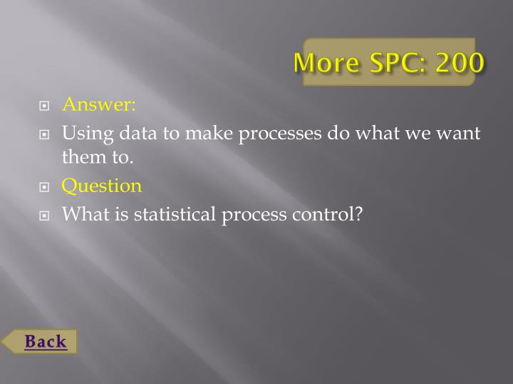 More SPC: 200
