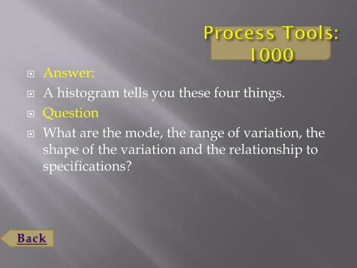 Process Tools: 1000