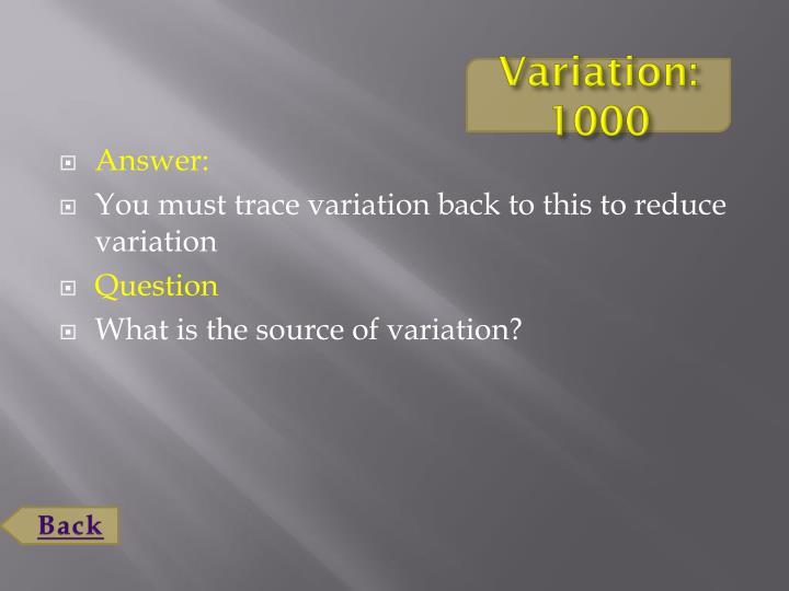 Variation: 1000