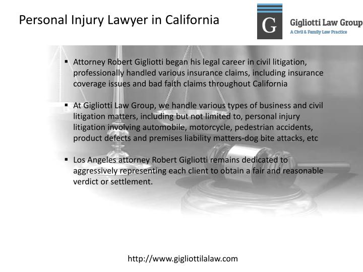 Personal Injury Lawyer in California