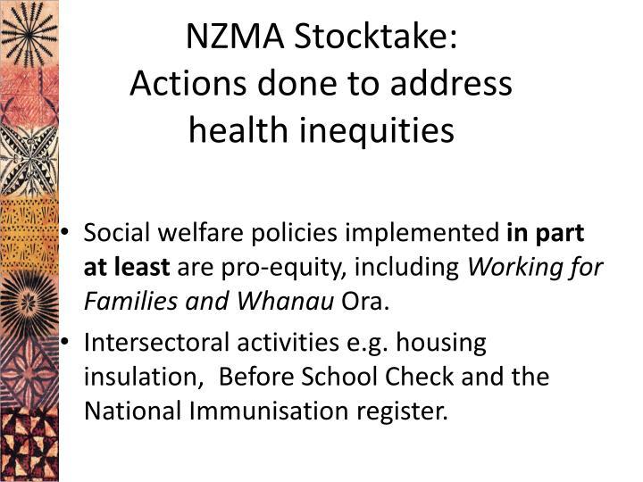 NZMA Stocktake: