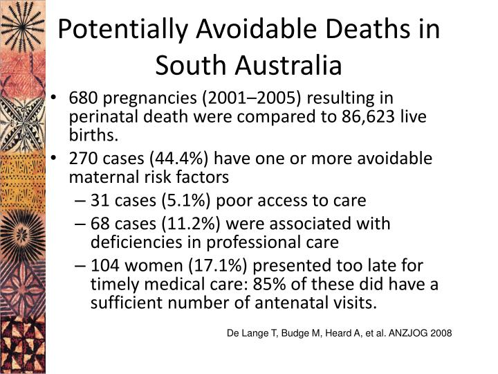 Potentially Avoidable Deaths in