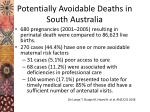 potentially avoidable deaths in south australia