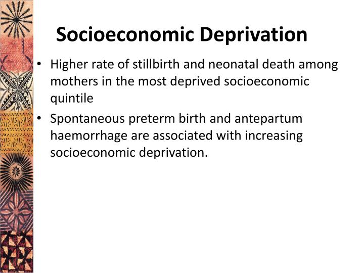 Socioeconomic Deprivation