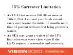 15 carryover limitation