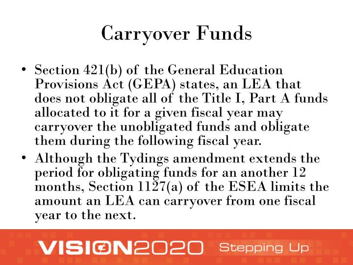 Carryover Funds