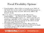fiscal flexibility options