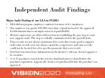 independent audit findings1