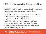 lea administrative responsibilities