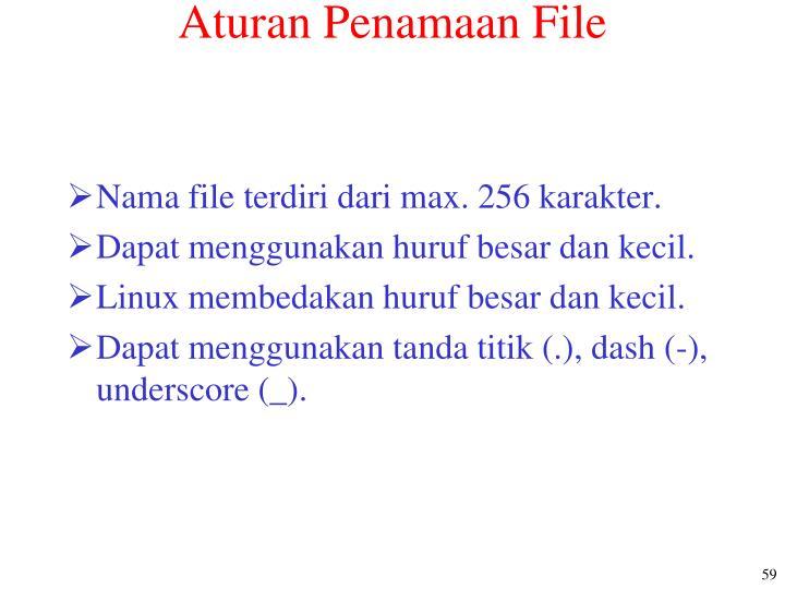 Aturan Penamaan File