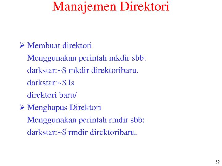 Manajemen Direktori