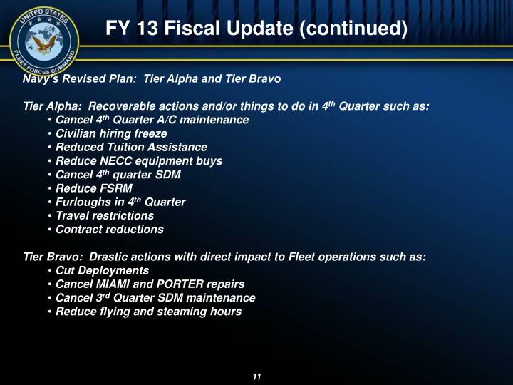FY 13 Fiscal