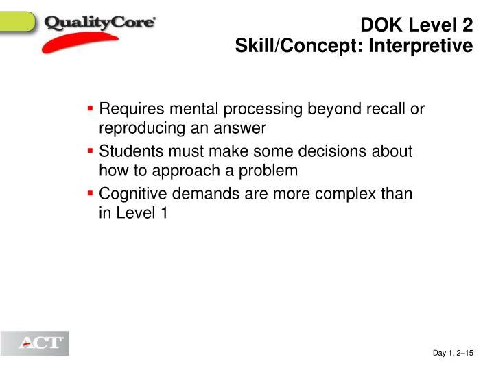 DOK Level 2