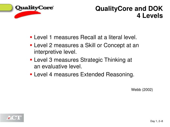 QualityCore and DOK