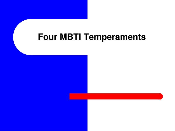 Four MBTI Temperaments