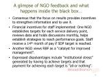 a glimpse of ngo feedback and what happens inside the black box