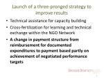 launch of a three pronged strategy to improve results