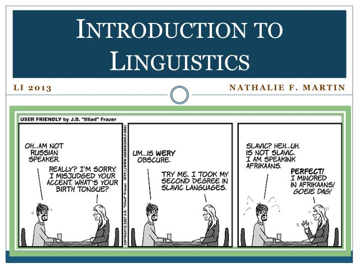 Introduction to linguistics1
