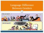 language difference between genders