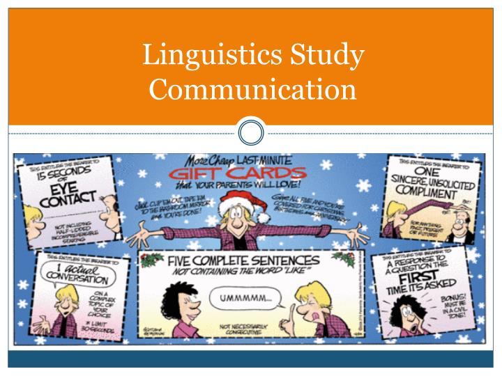 Linguistics Study Communication