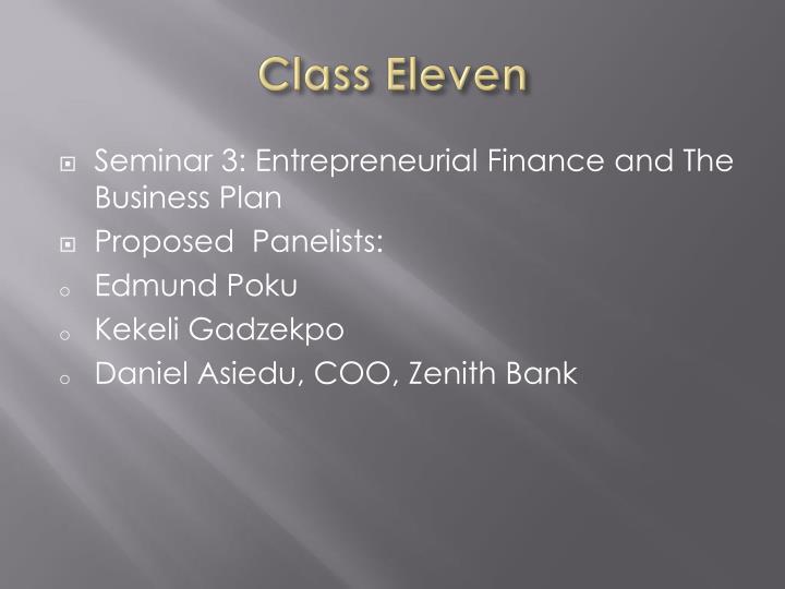 Class Eleven