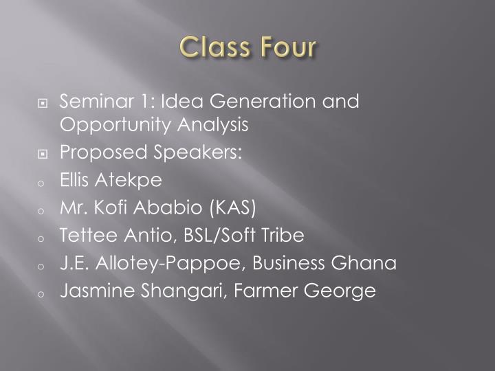 Class Four