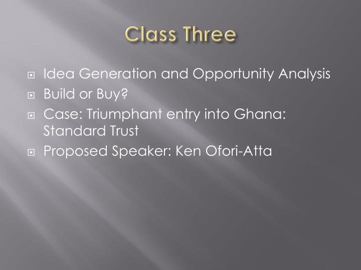 Class Three