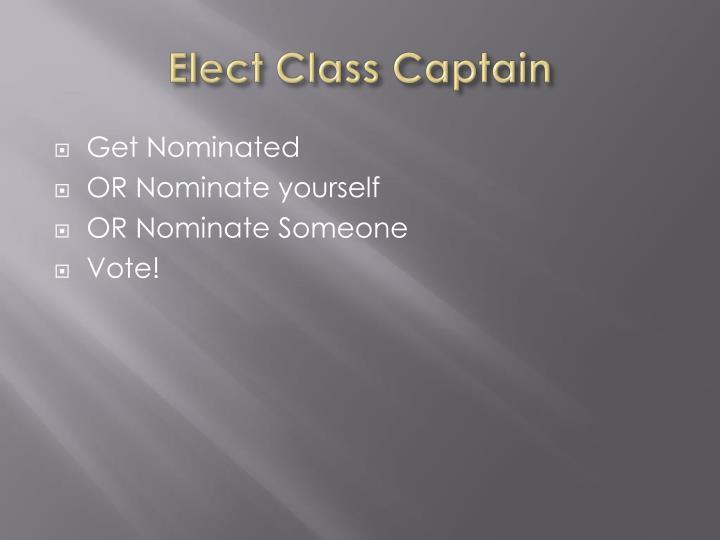 Elect Class Captain