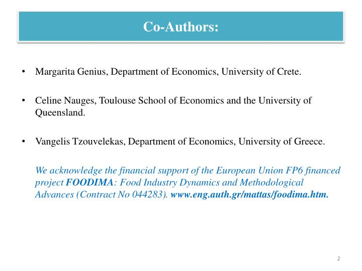 Co-Authors: