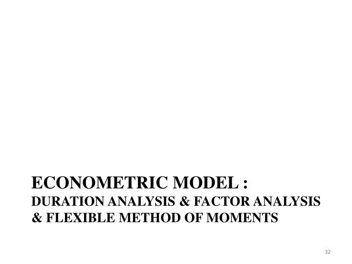Econometric model :