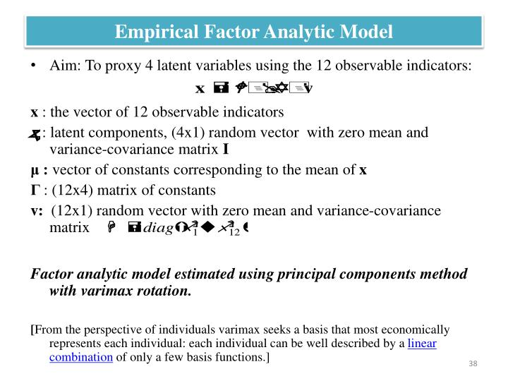 Empirical Factor Analytic Model