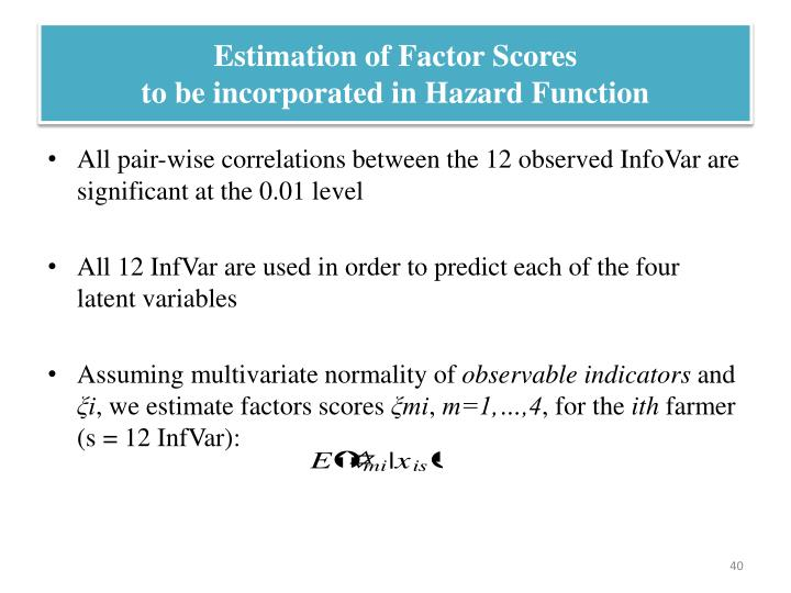 Estimation of Factor Scores