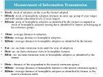 measurement of information transmission1