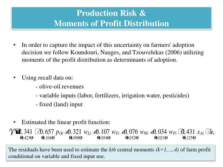 Production Risk &