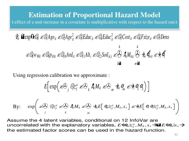 Estimation of Proportional Hazard Model