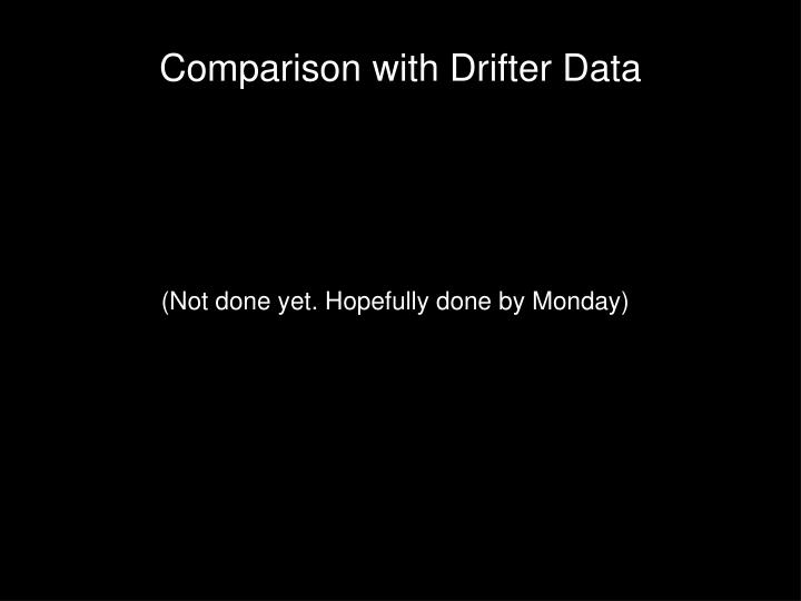 Comparison with Drifter Data