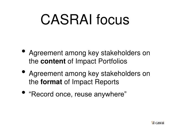 CASRAI focus
