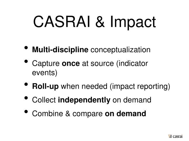 CASRAI & Impact