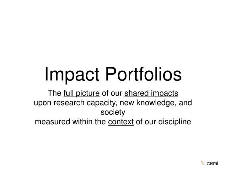 Impact Portfolios