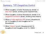 summary tcp congestion control