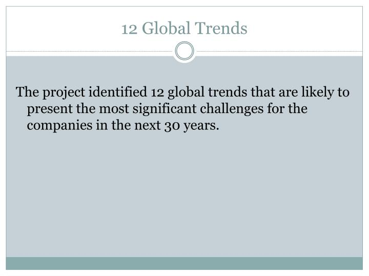12 Global Trends