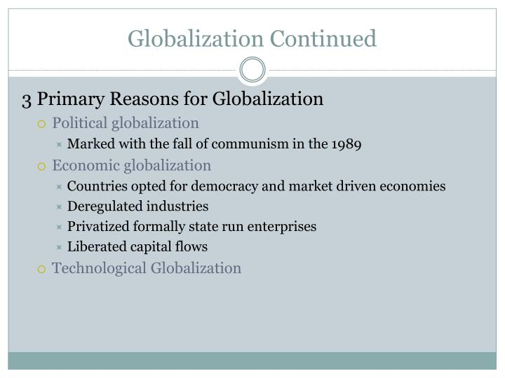 Globalization Continued