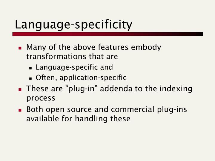 Language-specificity