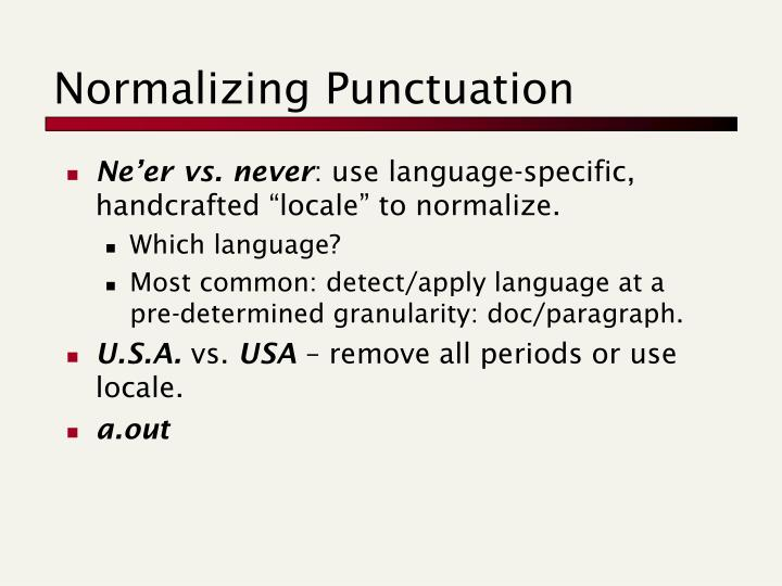 Normalizing Punctuation