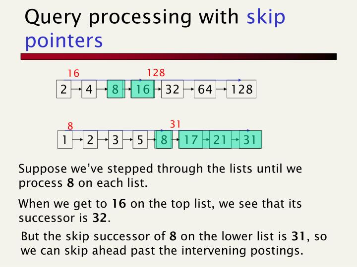 Query processing with