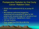 postoperative radiation for oral cavity cancer radiation dose