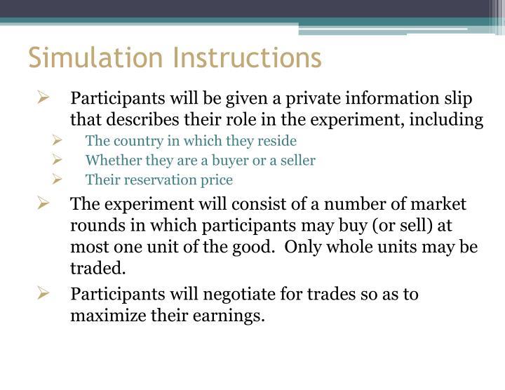 Simulation Instructions